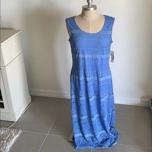 NURTURE BLUE LACE SLEEVELESS DRESS NWT SZ L SPRING